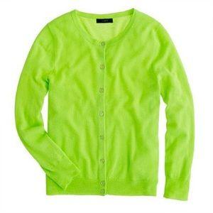 J. Crew | Neon Lime Cardigan